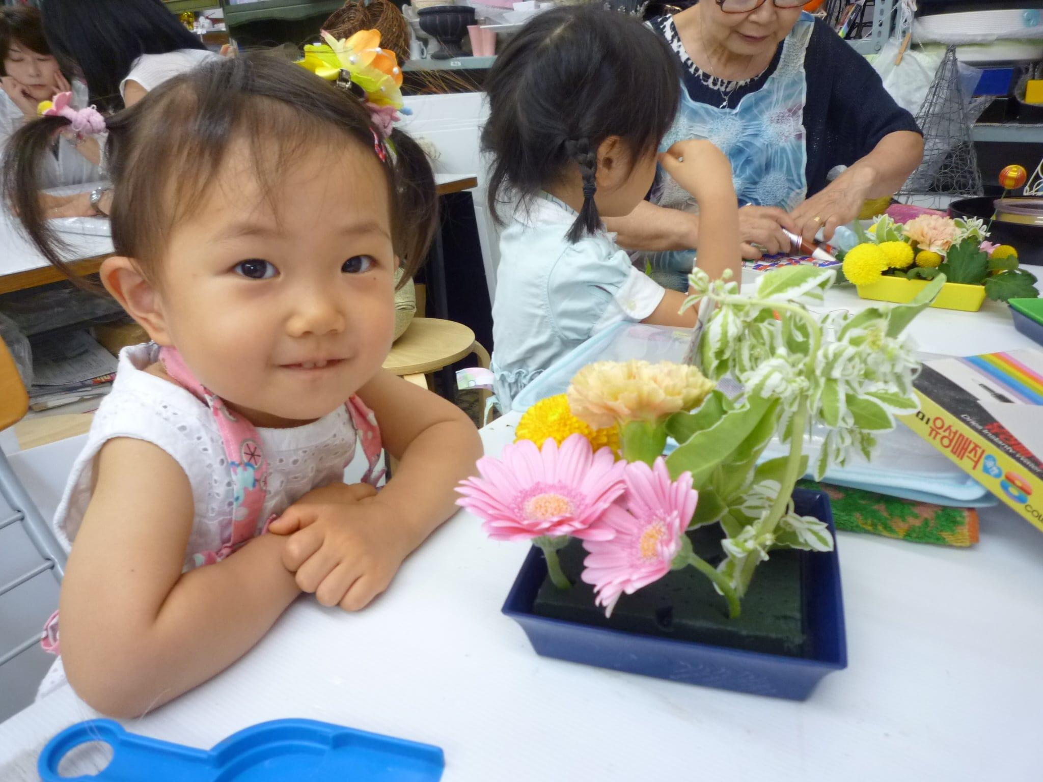 こどもお花教室【生け花】体験レッスンのイメージその5