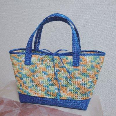 カラーオーダー/ハンドメイド/エコアンダアリヤのカゴバッグ