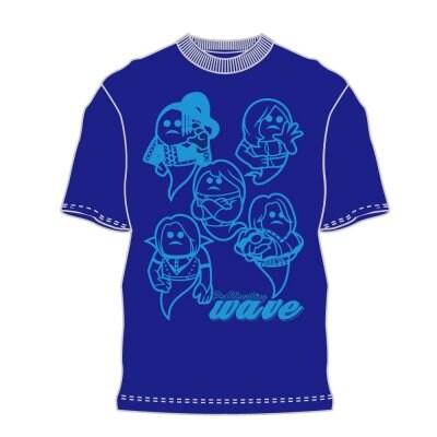 《Mサイズ》新作WAVETシャツ『wave×マブイ君コラボTシャツ』ネイビー