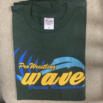 旧WAVETシャツ/ダークグリーン・Sサイズ