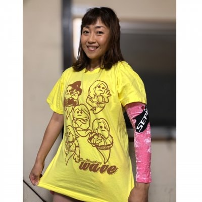 《Lサイズ》新作WAVETシャツ『wave×マブイ君コラボTシャツ』ライトイエ...