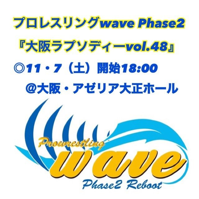 wave11月7日(土)@大阪・アゼリア大正ホール「SRS席」のイメージその1