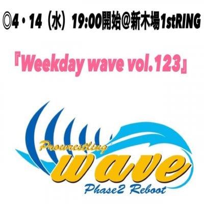 wave4月14日(水)@東京・新木場大会【指定席】