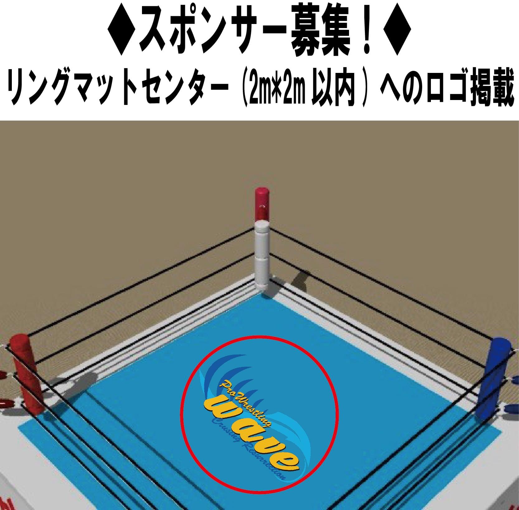 プロレスリングWAVE・リングマットスポンサー権[1年間]のイメージその1