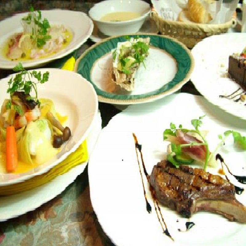 お食事チケット(ディナーお食事券)レストラン葡萄屋のディナーコースBのイメージその1