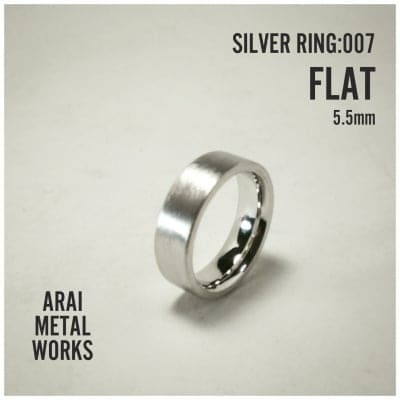 Silver Ring:007/FLAT 5.5mm (15~24号)