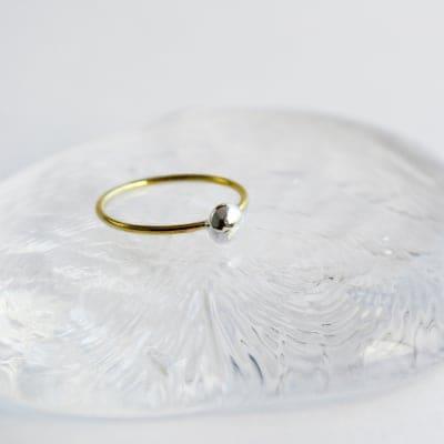 【雫リング】SILVER/BRASS Ring