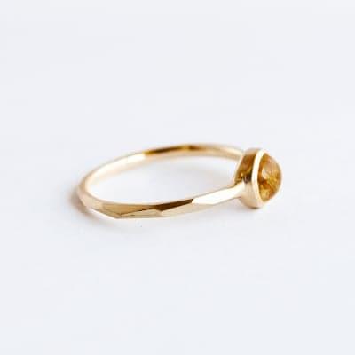 K10 Ring [ROUND 5mm] Rutilated quartz (ルチルクォーツ)
