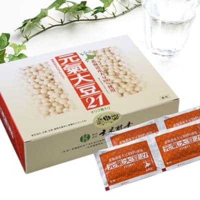 元氣大豆21(顆粒・90袋入)北海道の契約農家で 栽培した大豆を丸ごと使用! 大豆を手軽に取りたい方に/玄米酵素
