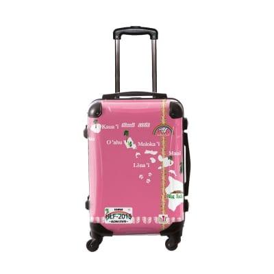 新色ALOHA!スーツケース Lサイズ ハワイ州観光局掲載「All Hawaii」限定版ロイヤルピンク【アロハ!企画対応】