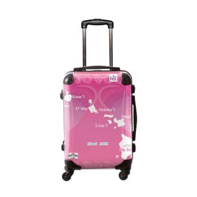 ALOHA!スーツケース Mサイズ ハワイ州観光局掲載「All Hawaii」限定版ハピネスピンク【アロハ!企画対応】