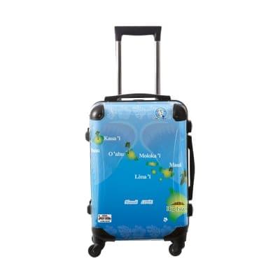 ALOHA!スーツケース Mサイズ ハワイ州観光局掲載「All Hawaii」限定版ハピネスブルー【アロハ!企画対応】
