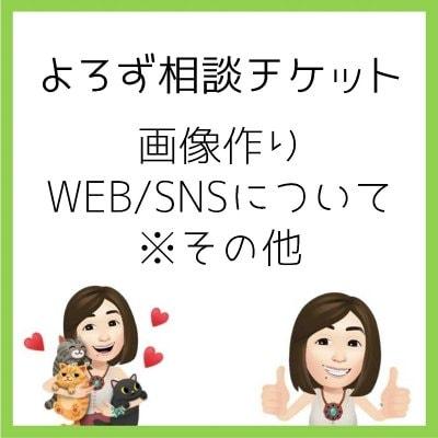 よろず相談チケット60分 知識をシェアします。WEB/SNSその他、自分で簡単にできるコツ