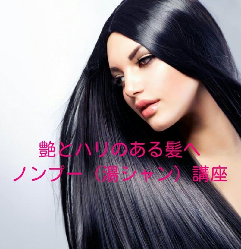 艶とハリのある髪へ『ノンプー(湯シャン)』講座のイメージその1