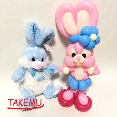 【当店限定】バルーンアートキャラクター「うさむー」と「くまむー」のフィギュア