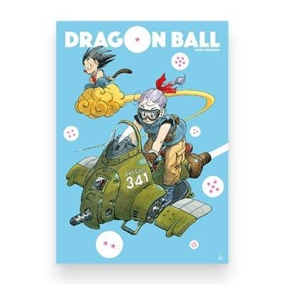 【限定おまけ付き】ジャンプ展VOL.2「DRAGON BALL」B2ポスター 悟空&ブルマVer.