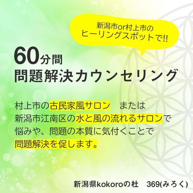 問題解決カウンセリング【60分】対面/オンライン|新潟県kokoroの杜369みろくのイメージその1