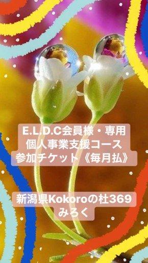 E.L.D.C. 自己探究育みグループコンサル1年コース参加チケット(毎月払い)|新潟県kokoroの杜369みろくのイメージその1