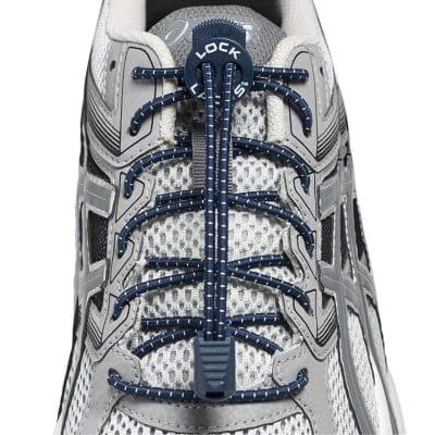 《単品》結ばない靴紐〜LOCK LACES〜《Navy Blue》全米売り上げNo.1【正規販売店】