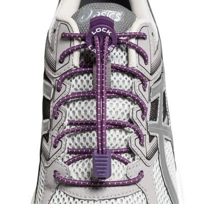 《単品》結ばない靴紐〜LOCK LACES〜《Purple》 全米売り上げNo.1【正規販売店】