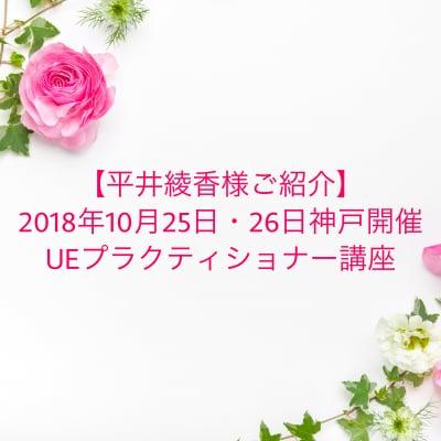 【平井綾香様ご紹介専用】2018年10月25,26日神戸開催 UEプラクティショナー講座