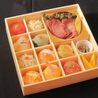 特撰 贅沢手毬寿司とローストビーフ御膳(要予約商品)