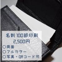 【送料無料】名刺(両面/カラー/91mm×55mm) 100部印刷
