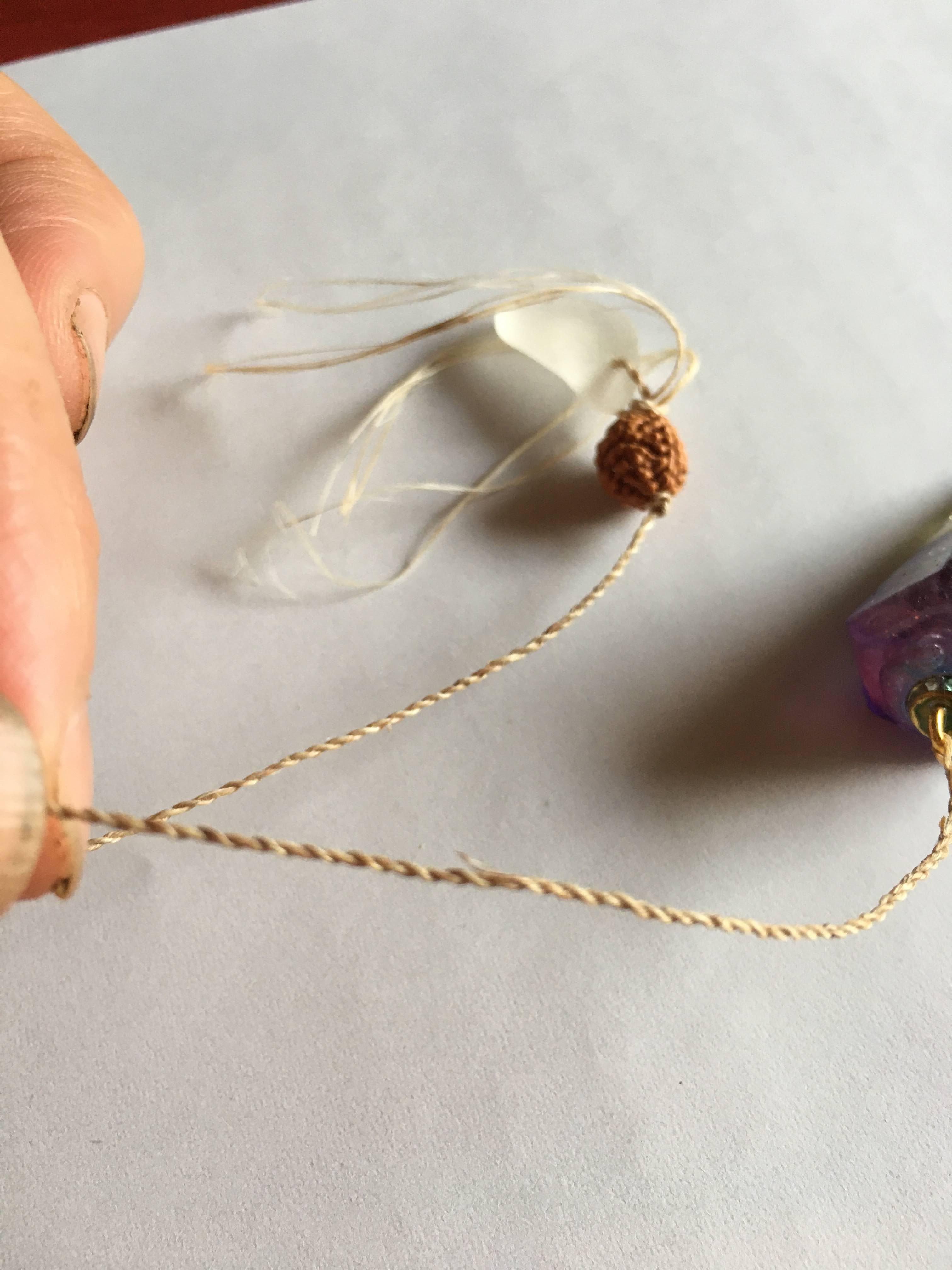 ペンデュラムに精麻の紐を付け替えサービス/シリウス市場より聖なる商品をお届けします【ドネーション制】のイメージその2