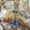 shala treeの聖なる耳飾り/カヤナイト&マカライト&クリスタル/アファメーションリーディング付き/シリウス市場より聖なる品をお届けします