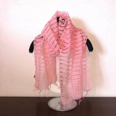 草木染膨れ織絹スカーフ(単色)