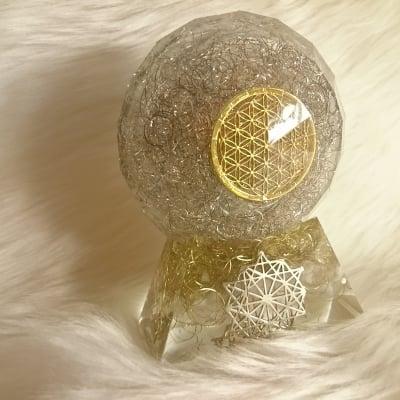 Hiro✡オリジナル オルゴナイト〜Orgonite〜ヴェシカパイシス(台座付き)
