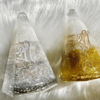 Hiro✡オリジナル オルゴナイト〜Orgonite〜八角錐の盛り塩【受注販売】