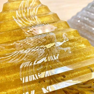 Hiro✡オリジナル オルゴナイト〜Orgonite〜階段ピラミッド(ゴールド)