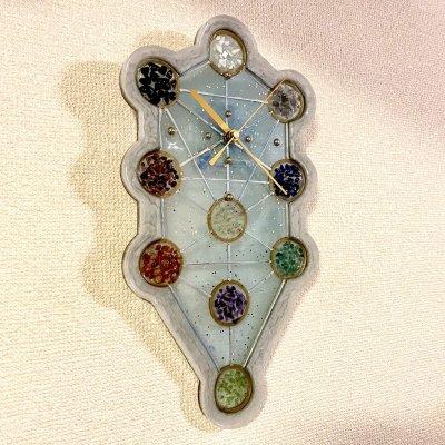 Hiro✡オリジナル オルゴナイト〜Orgonite〜生命の樹型壁掛け時計