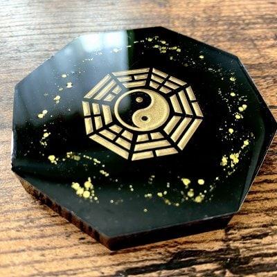 Hiro✡オリジナル オルゴナイト〜Orgonite〜八卦盤(ゴールド)