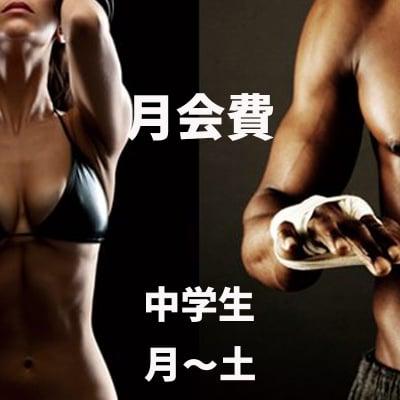 野口ボクシングジム・月会費《中学生(月〜土)