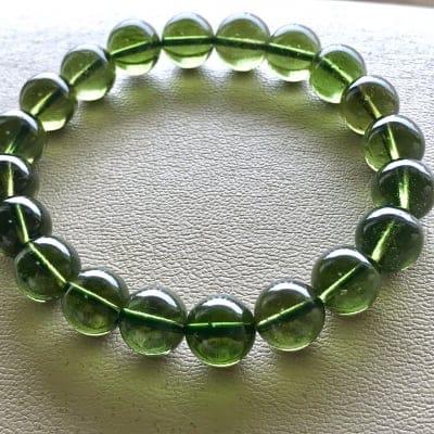 高級天然石 天然ガラス モルダバイト10mm 宇宙からの贈り物