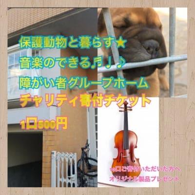 代理店限定【チャリティー寄付】保護動物と暮らす音楽のできる障がい者グループホーム応援チケット