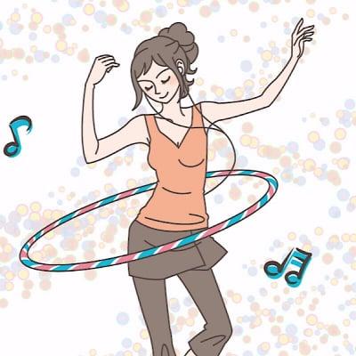 【ご希望日可能】zoom フープダンス オンライン 30分プライベートレッスン 申込みチケット