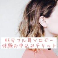 【10月20日(土)開催】45分フル耳ソロジー体験お申し込みチケット