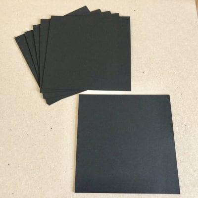 【黒の紙】曼荼羅アート用ケンラン紙 ディープブラック 225K 15cm角 10枚セット