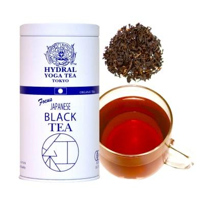 日本生まれのオーガニック紅茶|Japanese Black Tea(50g缶入)|極上の一息を。|Organic Single Estate Black Tea|国産オーガニックティー通販HYDRAL YOGA TEA