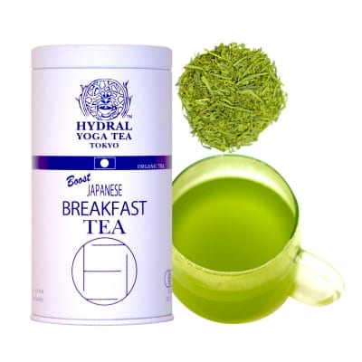 オーガニック抹茶入りグリーンティー|Japanese Breakfast Tea(50g缶入)|最高の目覚めを。|Original Blend of Organic Matcha & Green Tea 1st Flush