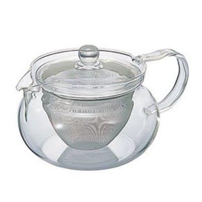 残り2個|香り豊かな本格ティータイムを|HARIOガラスティーポット450ml|茶こし付き