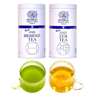 【クリスマスSALE 30%OFF】国産オーガニックティー2種セット(各50g缶入)|特別な贈り物に。12月ラッピング無料!|HYDRAL YOGA TEA 2 Organic Tea Cans Set|高ポイント還元