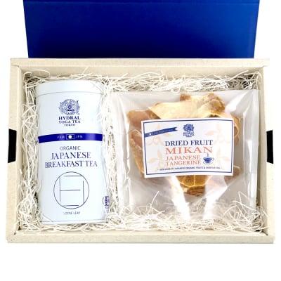【クリスマスSALE!】最適な贈り物に。オーガニック・無添加・国産の上質なドライフルーツMIKAN + 選べる国産オーガニックティー1缶 セット|無農薬・保存料&砂糖一切不使用|オーガニックティータイムを楽しもう|HYDRAL YOGA TEA
