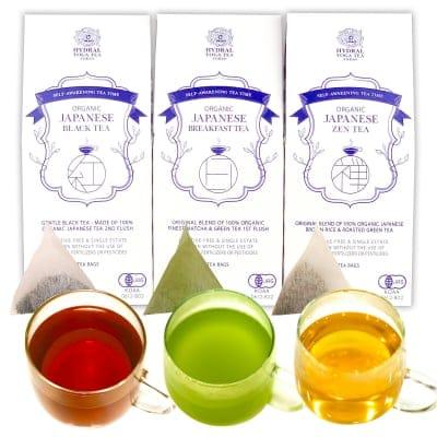 【Tea Bags】Japanese Organic Tea Set|国産オーガニックティー3種または1種3袋セット|ティーバッグ|大切な人への贈り物にも。|HYDRAL YOGA TEA 3 Organic Tea Teabags Set