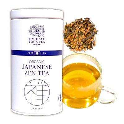【再入荷】Japanese Zen Tea(50g缶入) オーガニック玄米ほうじ茶 極上のリラックス。 Original Blend of Organic Brown Rice & Roasted Green Tea 国産オーガニックティー通販HYDRAL YOGA TEA