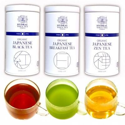 【再入荷】3 Organic Tea Cans Set 国産オーガニックティー3種セット(各...