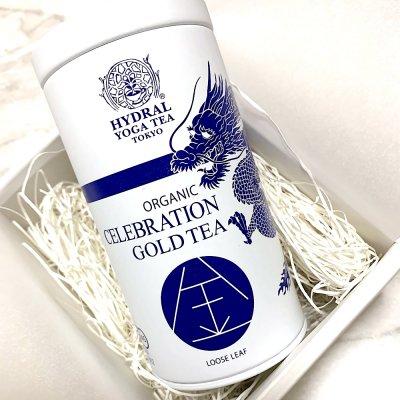 【最上級】Japanese Celebration Gold Tea (50g 龍神デザイン缶 箱入り)...